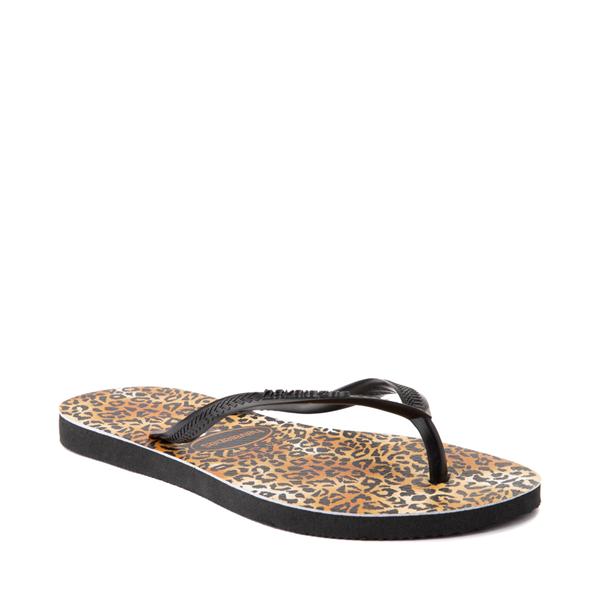 alternate view Womens Havaianas Slim Sandal - LeopardALT5