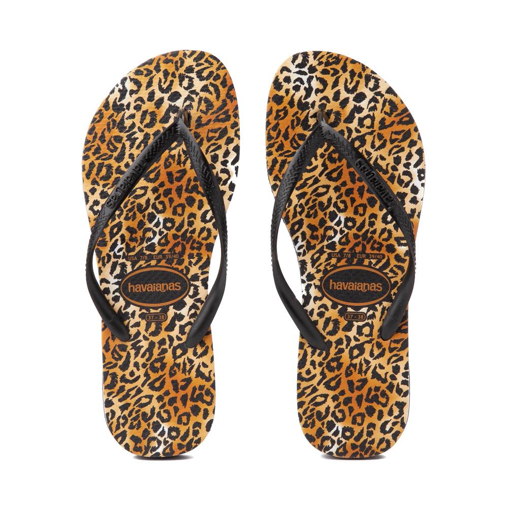 Womens Havaianas Slim Sandal - Leopard