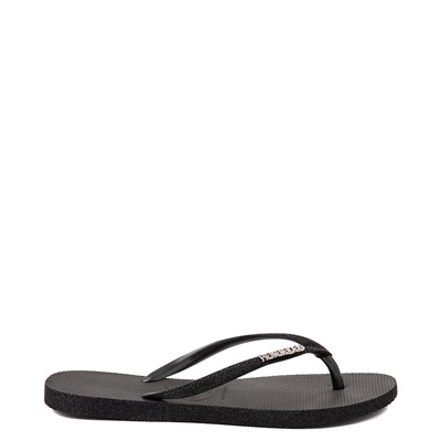 Alternate view of Womens Havaianas Slim Sparkle Sandal - Black