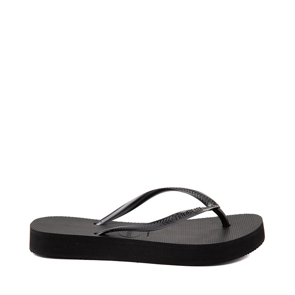 Main view of Womens Havaianas Slim Flatform Sandal - Black