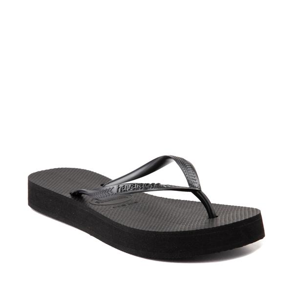 alternate view Womens Havaianas Slim Flatform Sandal - BlackALT5