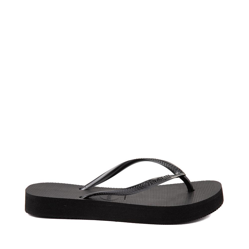 Womens Havaianas Slim Flatform Sandal - Black