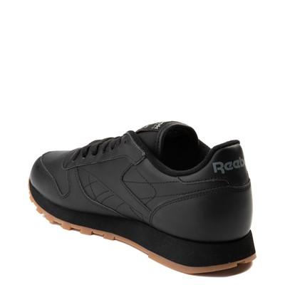 Alternate view of Mens Reebok Classic Leather Athletic Shoe - Black / Gum