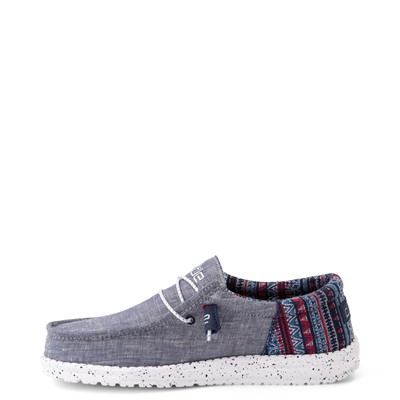 Alternate view of Mens Hey Dude Wally Funk Casual Shoe - Blue / Tribe