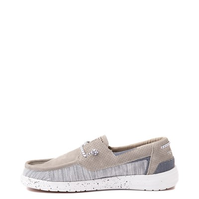Alternate view of Mens Hey Dude Welsh Slip On Casual Shoe - Oyster
