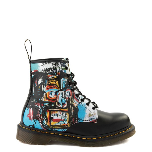 Main view of Dr. Martens x Basquiat 1460 8-Eye Boot - Black / Multicolor