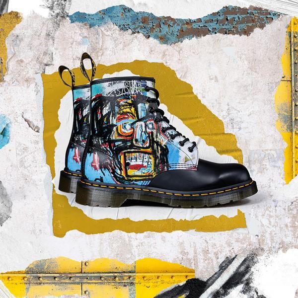 alternate view Dr. Martens x Basquiat 1460 8-Eye Boot - Black / MulticolorALT1B