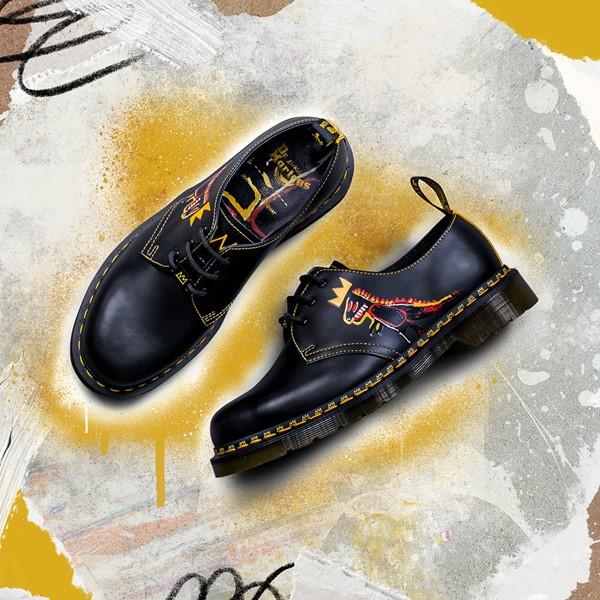 alternate view Dr. Martens x Basquiat 1461 Casual Shoe - Black / MulticolorALT1B