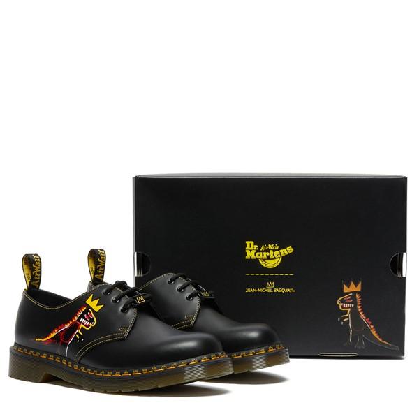 alternate view Dr. Martens x Basquiat 1461 Casual Shoe - Black / MulticolorALT1C