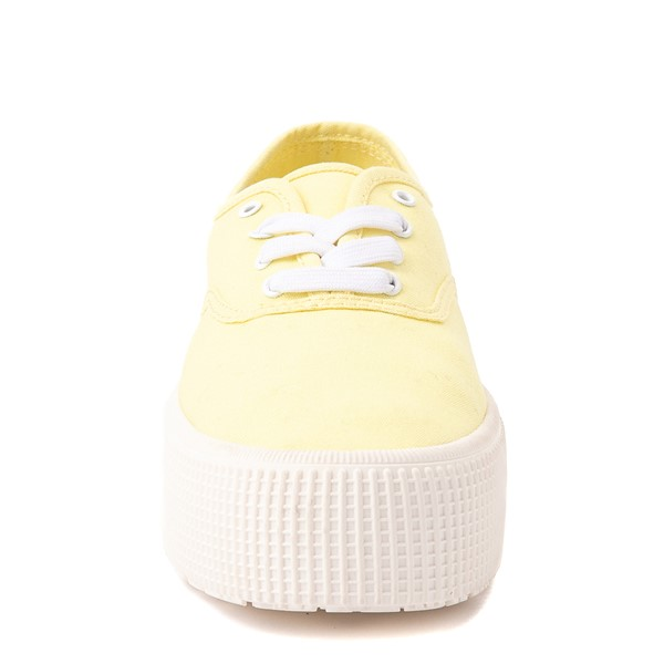 alternate view Womens Cool Planet by Steve Madden Stream Platform Casual Shoe - YellowALT4