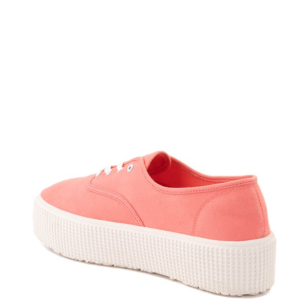 alternate view Womens Cool Planet by Steve Madden Stream Platform Casual Shoe - CoralALT1