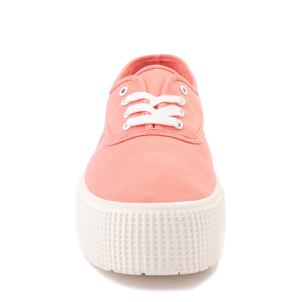 alternate view Womens Cool Planet by Steve Madden Stream Platform Casual Shoe - CoralALT4