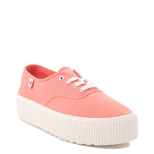 alternate view Womens Cool Planet by Steve Madden Stream Platform Casual Shoe - CoralALT5