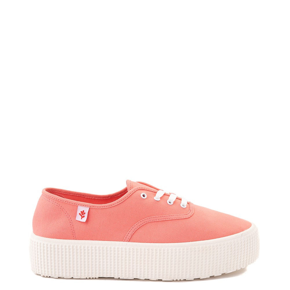 Womens Cool Planet by Steve Madden Stream Platform Casual Shoe - Coral