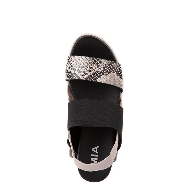 alternate view Womens MIA Amilia Platform Sandal - Black / SnakeskinALT2