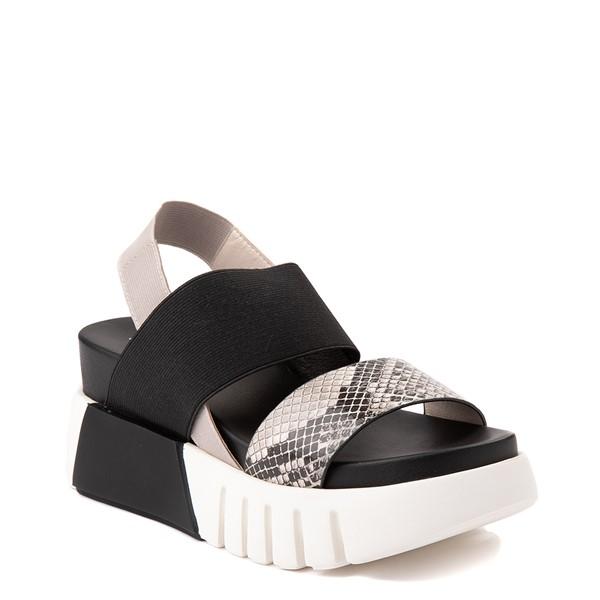 alternate view Womens MIA Amilia Platform Sandal - Black / SnakeskinALT5