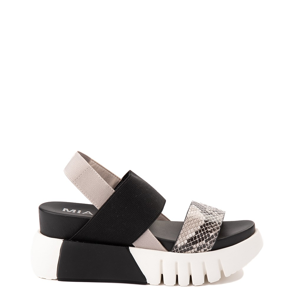 Womens MIA Amilia Platform Sandal - Black / Snakeskin