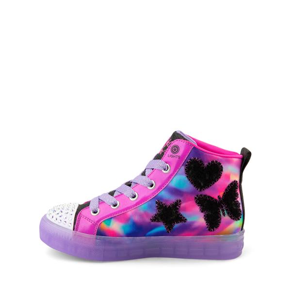 alternate view Skechers Twinkle Toes Shuffle Brights Patch 'N' Play Sneaker - Little Kid - Black / MulticolorALT1B