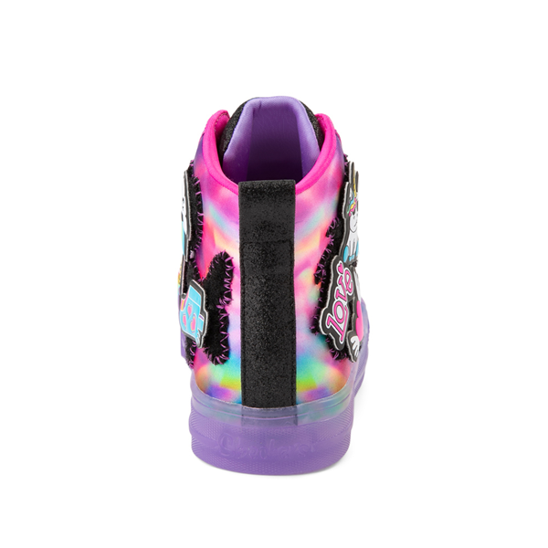 alternate view Skechers Twinkle Toes Shuffle Brights Patch 'N' Play Sneaker - Little Kid - Black / MulticolorALT4