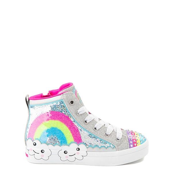 Skechers Twinkle Toes Twi-Lites Rainbow Cloud Sneaker - Little Kid - Silver