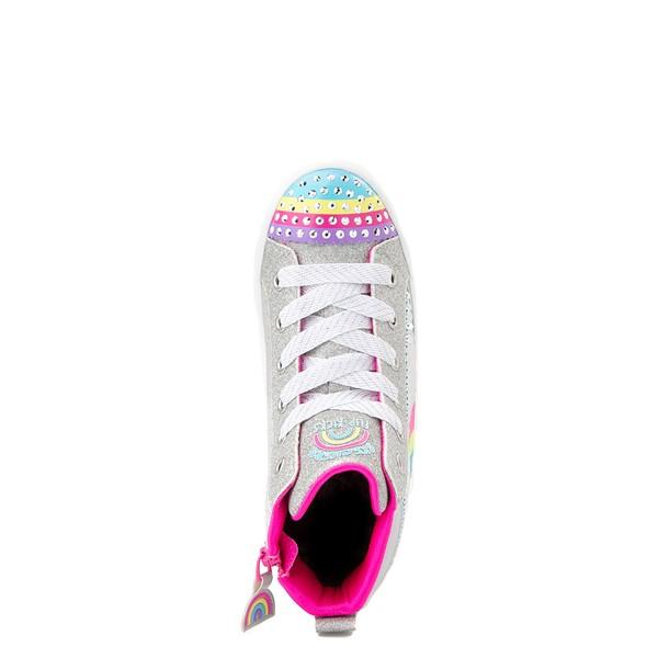 alternate view Skechers Twinkle Toes Twi-Lites Rainbow Cloud Sneaker - Little Kid - SilverALT2
