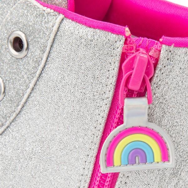 alternate view Skechers Twinkle Toes Twi-Lites Rainbow Cloud Sneaker - Little Kid - SilverALT2C