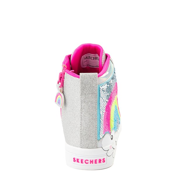 alternate view Skechers Twinkle Toes Twi-Lites Rainbow Cloud Sneaker - Little Kid - SilverALT4