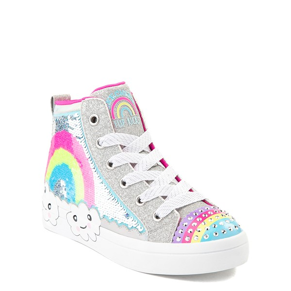alternate view Skechers Twinkle Toes Twi-Lites Rainbow Cloud Sneaker - Little Kid - SilverALT5