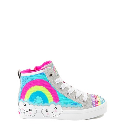 Alternate view of Skechers Twinkle Toes Twi-Lites Rainbow Cloud Sneaker - Little Kid - Silver