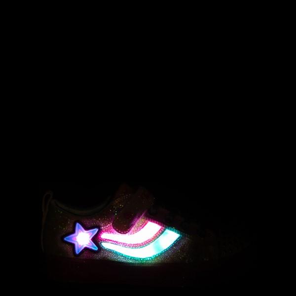 alternate view Skechers Twinkle Toes Shuffle Brights Shooting Star Sneaker - Little Kid - MulticolorALT1