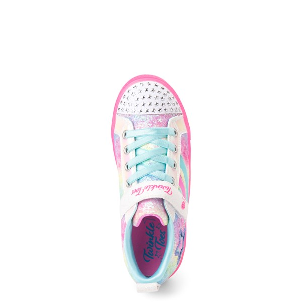 alternate view Skechers Twinkle Toes Shuffle Brights Shooting Star Sneaker - Little Kid - MulticolorALT2