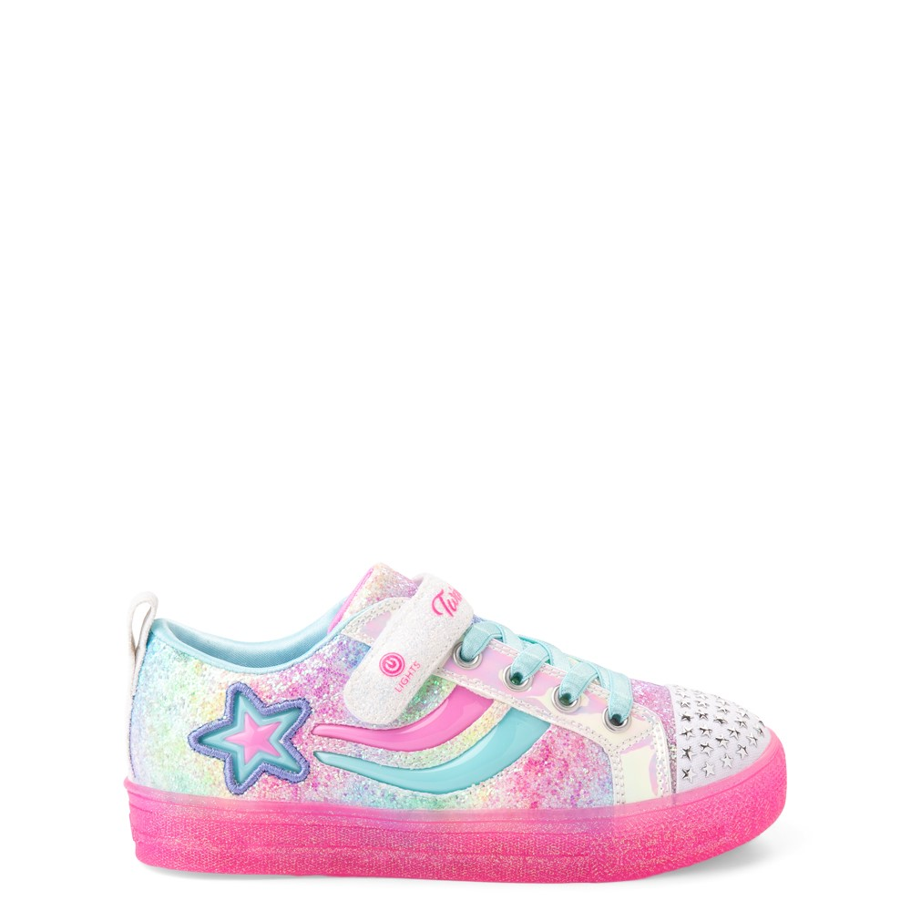 Skechers Twinkle Toes Shuffle Brights Shooting Star Sneaker - Little Kid - Multicolor