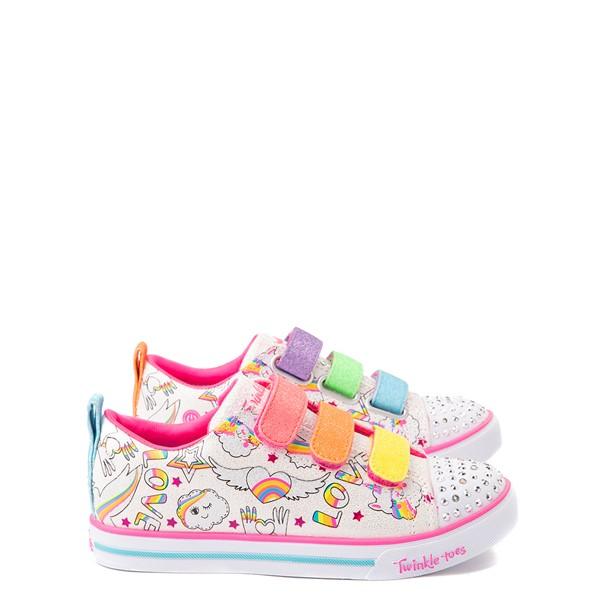 Skechers Twinkle Toes Sparkle Lite Believe In Rainbows Sneaker - Little Kid - White / Multicolor