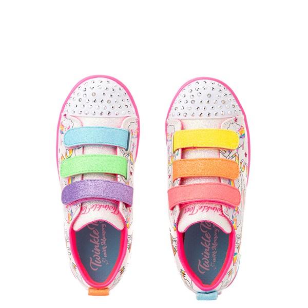 alternate view Skechers Twinkle Toes Sparkle Lite Believe In Rainbows Sneaker - Little Kid - White / MulticolorALT2