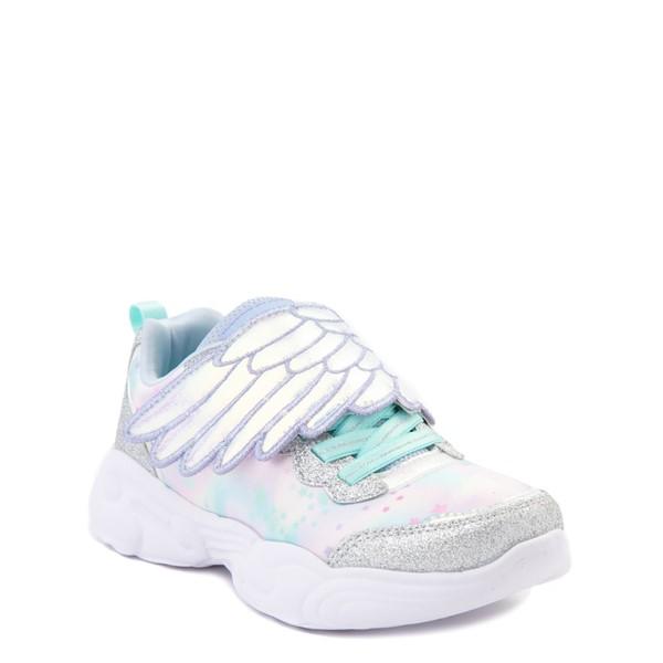 alternate view Skechers Unicorn Storm Wing Dazzle Sneaker - Little Kid - SilverALT5