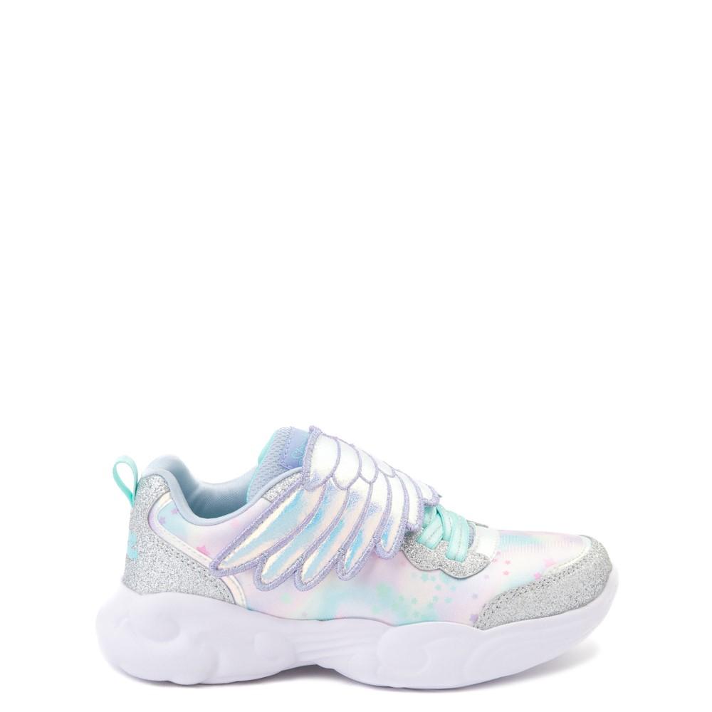 Skechers Unicorn Storm Wing Dazzle Sneaker - Little Kid - Silver