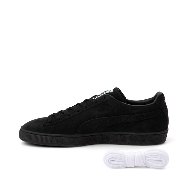 alternate view Mens Puma Suede Athletic Shoe - Black MonochromeALT1