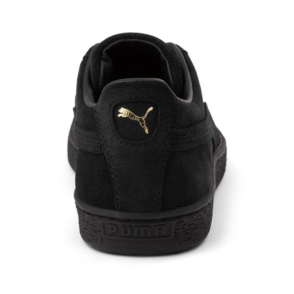 alternate view Mens Puma Suede Athletic Shoe - Black MonochromeALT4