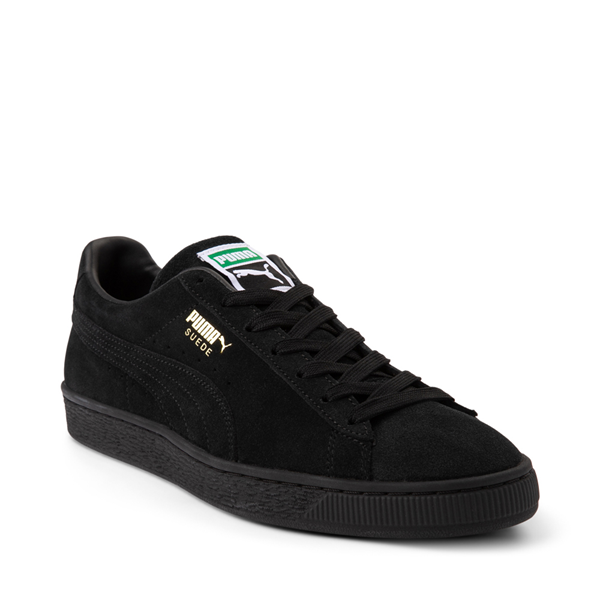 alternate view Mens Puma Suede Athletic Shoe - Black MonochromeALT5