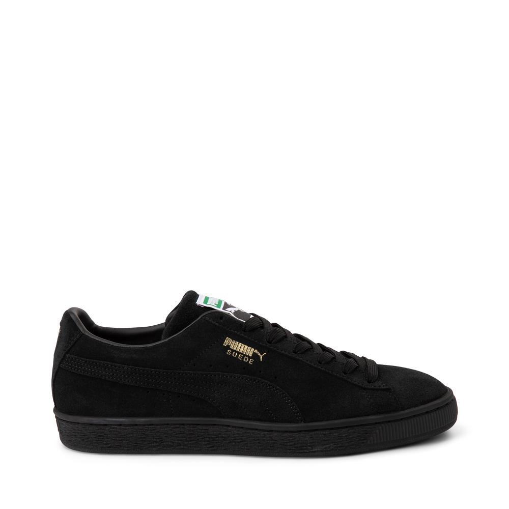 Mens Puma Suede Athletic Shoe - Black Monochrome