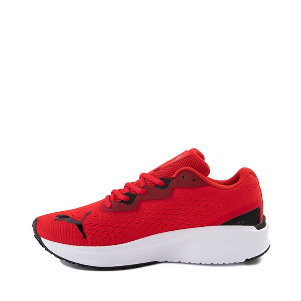 alternate view Mens Puma Aviator Athletic Shoe - Red / BlackALT1