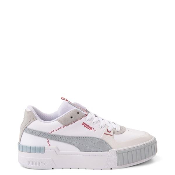Womens Puma Cali Sport Athletic Shoe - White / Gray