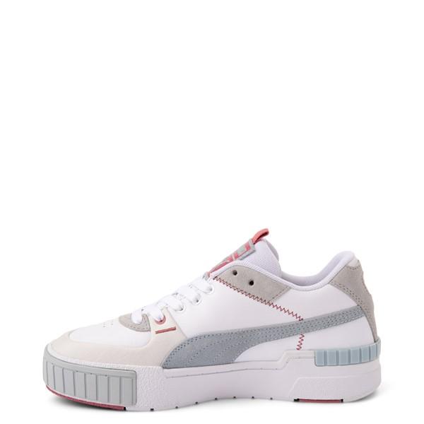 alternate view Womens Puma Cali Sport Athletic Shoe - White / GrayALT1