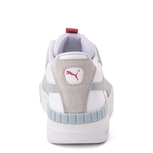 alternate view Womens Puma Cali Sport Athletic Shoe - White / GrayALT4
