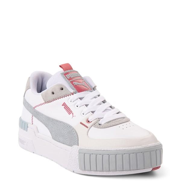 alternate view Womens Puma Cali Sport Athletic Shoe - White / GrayALT5