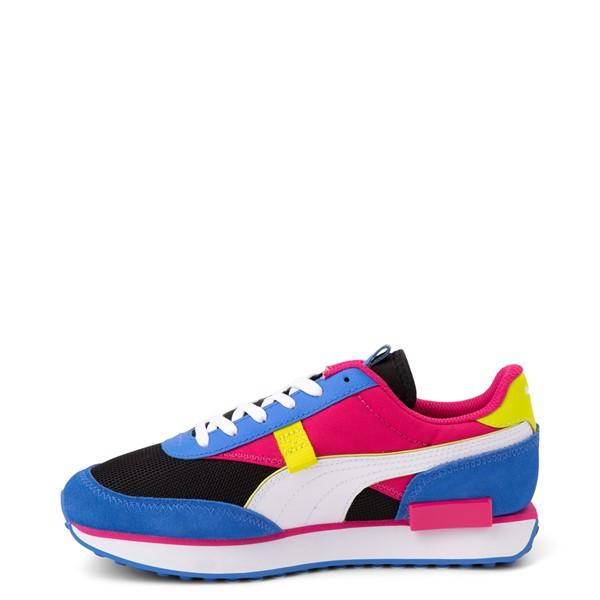 alternate view Womens Puma Future Rider Play On Athletic Shoe - Black / Pink / Lime / BlueALT1