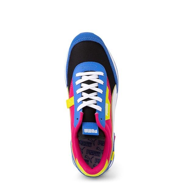 alternate view Womens Puma Future Rider Play On Athletic Shoe - Black / Pink / Lime / BlueALT2