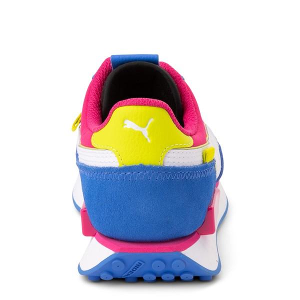 alternate view Womens Puma Future Rider Play On Athletic Shoe - Black / Pink / Lime / BlueALT4