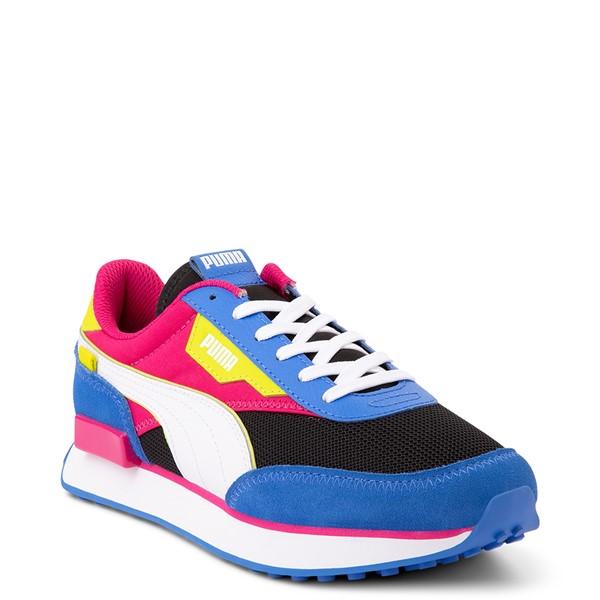 alternate view Womens Puma Future Rider Play On Athletic Shoe - Black / Pink / Lime / BlueALT5