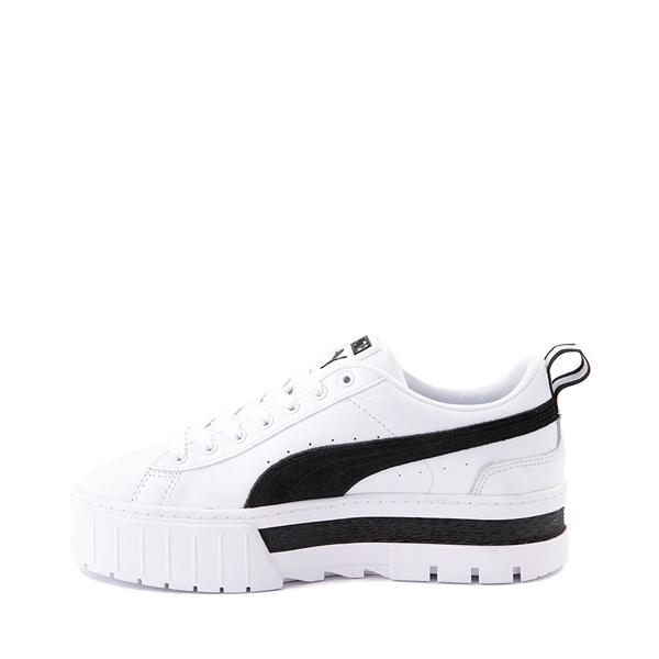 alternate view Womens Puma Mayze Platform Athletic Shoe - White / BlackALT1